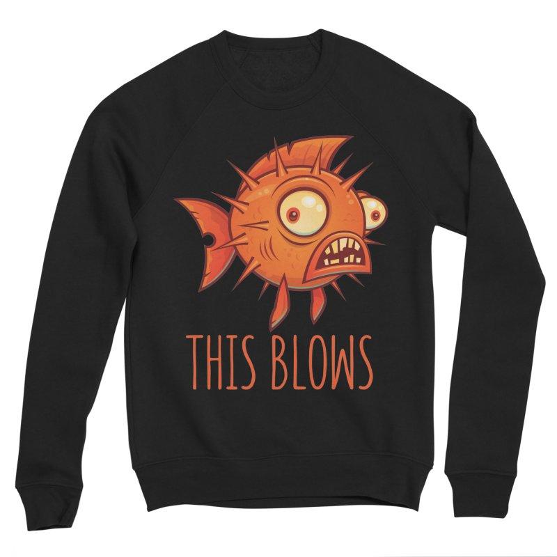 This Blows Porcupine Blowfish Men's Sponge Fleece Sweatshirt by Fizzgig's Artist Shop
