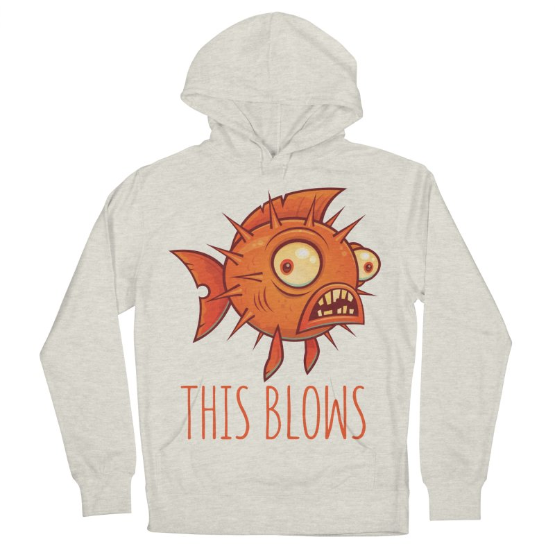 This Blows Porcupine Blowfish Men's French Terry Pullover Hoody by Fizzgig's Artist Shop