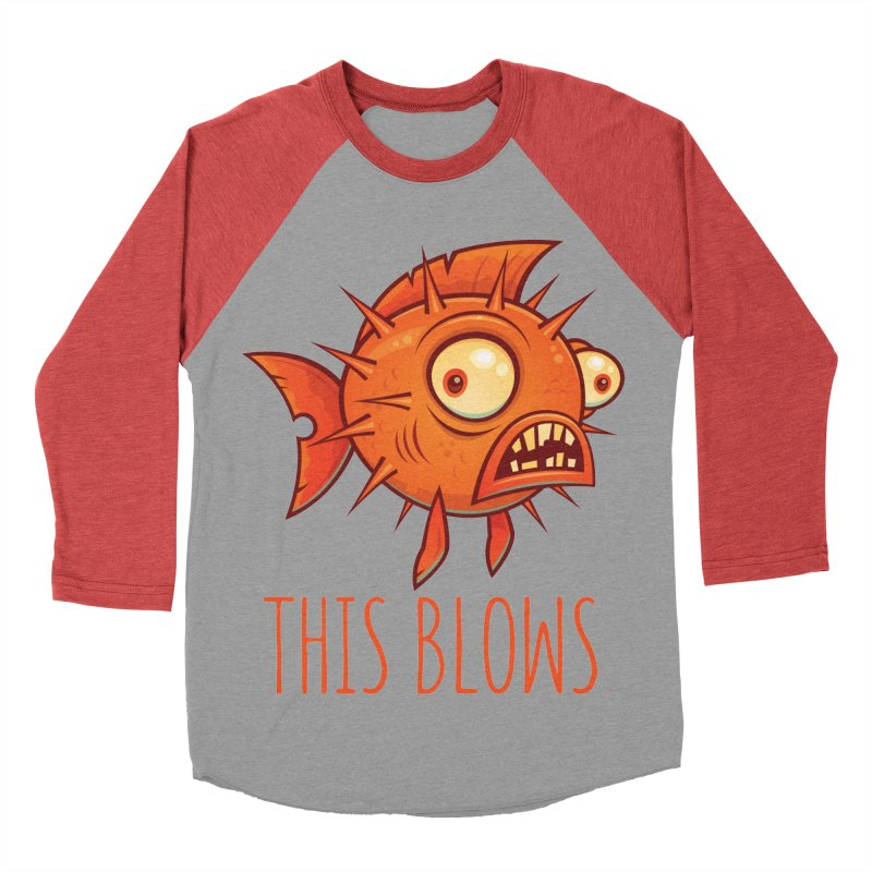 This Blows Porcupine Blowfish Men's Baseball Triblend Longsleeve T-Shirt by Fizzgig's Artist Shop