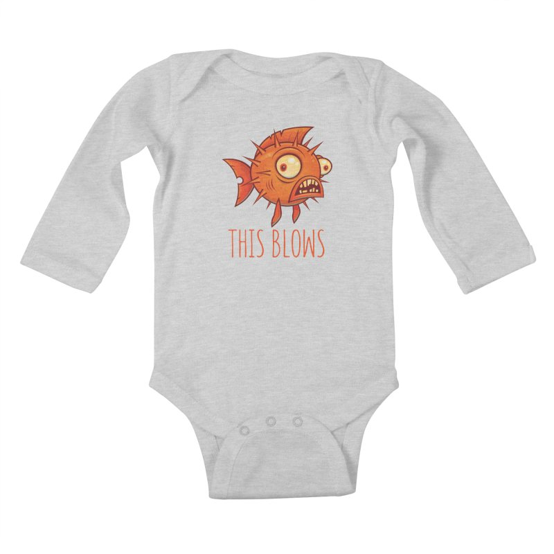 This Blows Porcupine Blowfish Kids Baby Longsleeve Bodysuit by Fizzgig's Artist Shop
