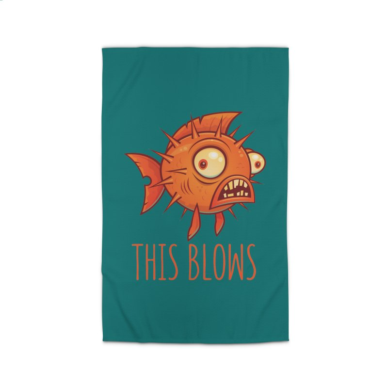 This Blows Porcupine Blowfish Home Rug by Fizzgig's Artist Shop
