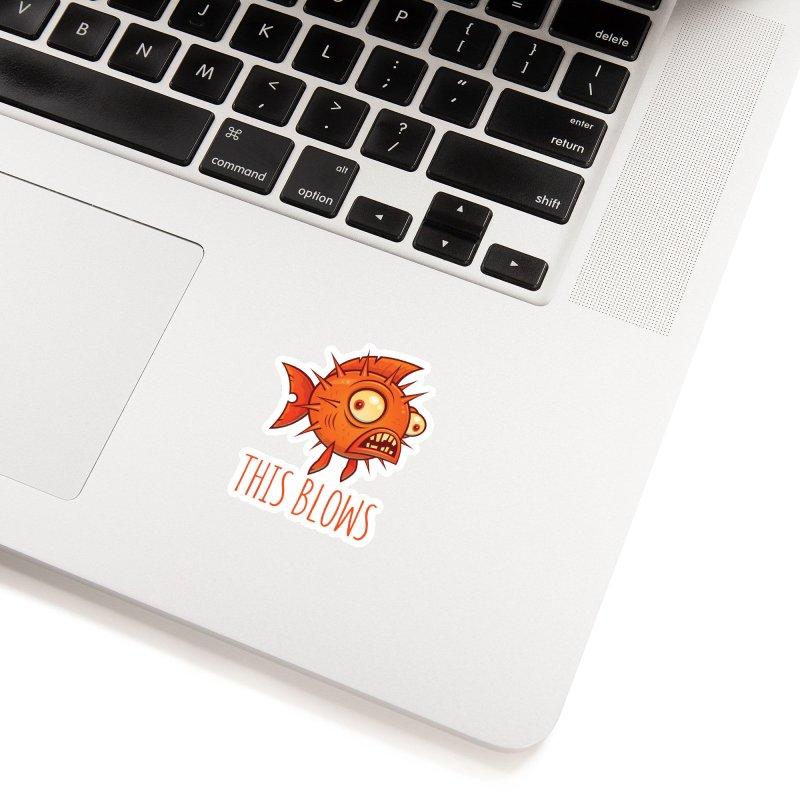 This Blows Porcupine Blowfish Accessories Sticker by Fizzgig's Artist Shop