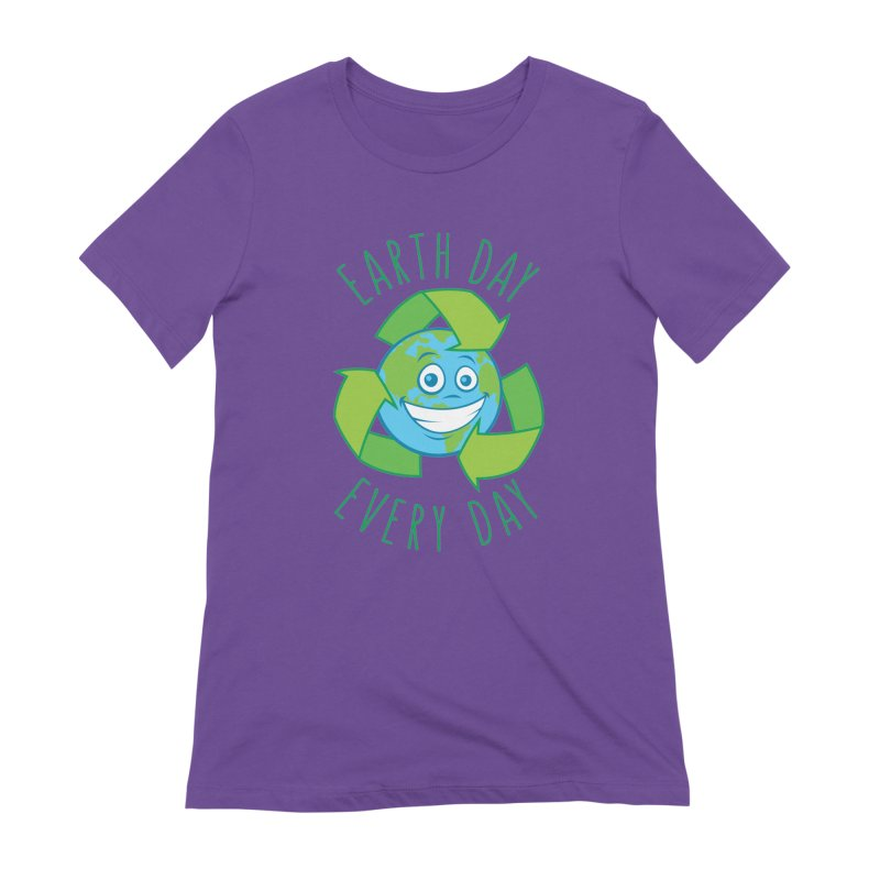 Earth Day Every Day Recycle Cartoon Women's Extra Soft T-Shirt by Fizzgig's Artist Shop