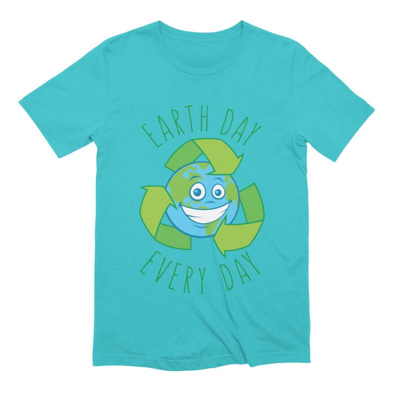 Earth Day Every Day Recycle Cartoon Men's Extra Soft T-Shirt by Fizzgig's Artist Shop