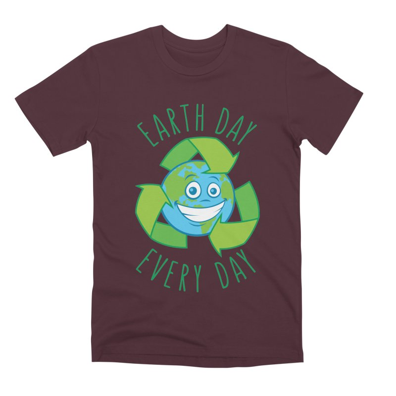 Earth Day Every Day Recycle Cartoon Men's Premium T-Shirt by Fizzgig's Artist Shop