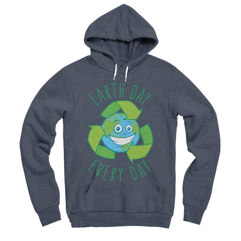 Earth Day Every Day Recycle Cartoon Men's Sponge Fleece Pullover Hoody by Fizzgig's Artist Shop