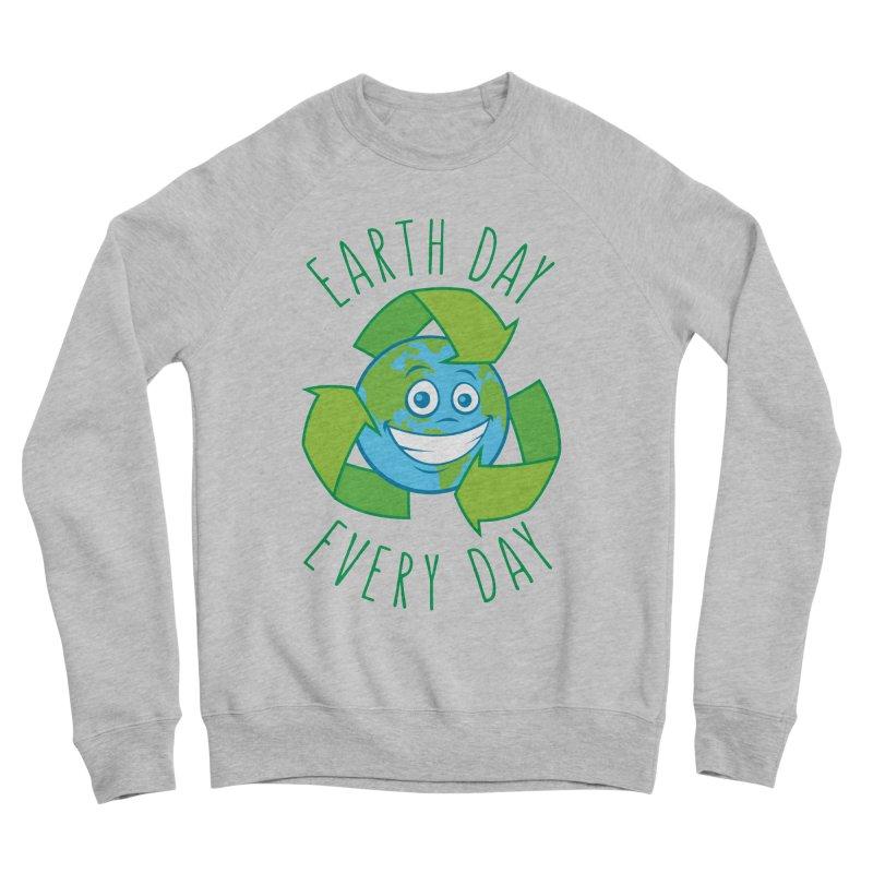 Earth Day Every Day Recycle Cartoon Men's Sponge Fleece Sweatshirt by Fizzgig's Artist Shop