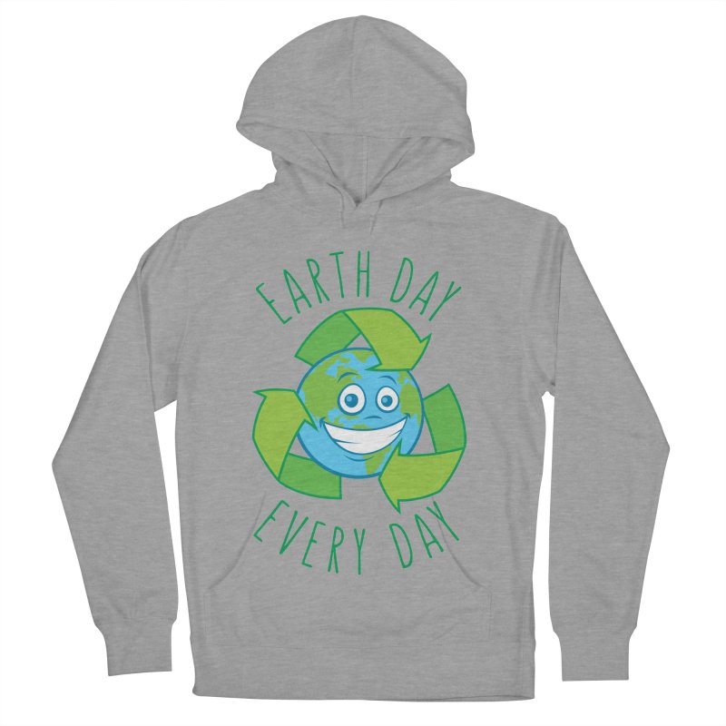 Earth Day Every Day Recycle Cartoon Women's French Terry Pullover Hoody by Fizzgig's Artist Shop
