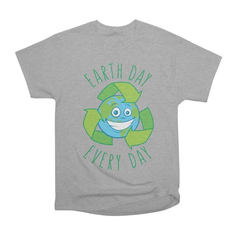 Earth Day Every Day Recycle Cartoon Men's Heavyweight T-Shirt by Fizzgig's Artist Shop