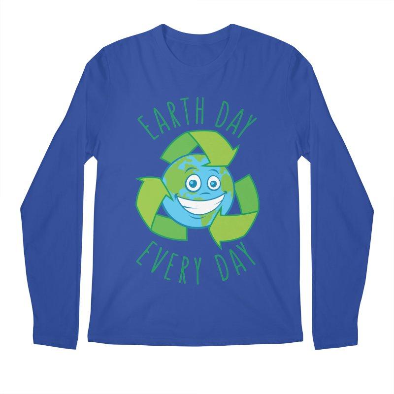 Earth Day Every Day Recycle Cartoon Men's Regular Longsleeve T-Shirt by Fizzgig's Artist Shop