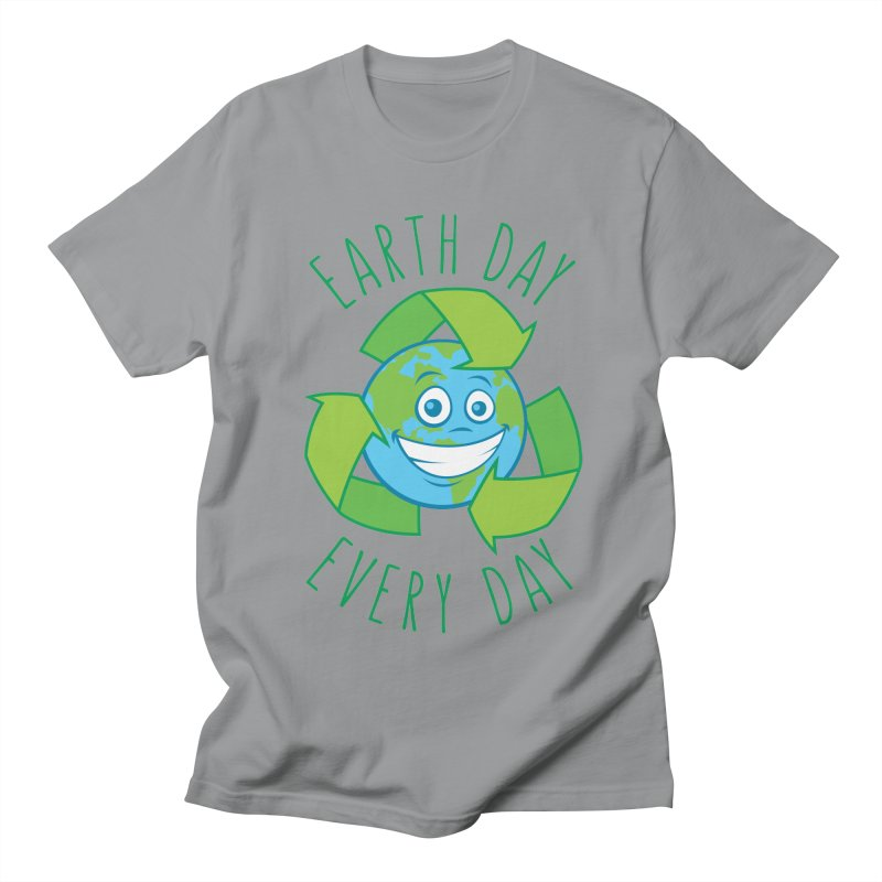 Earth Day Every Day Recycle Cartoon Men's Regular T-Shirt by Fizzgig's Artist Shop