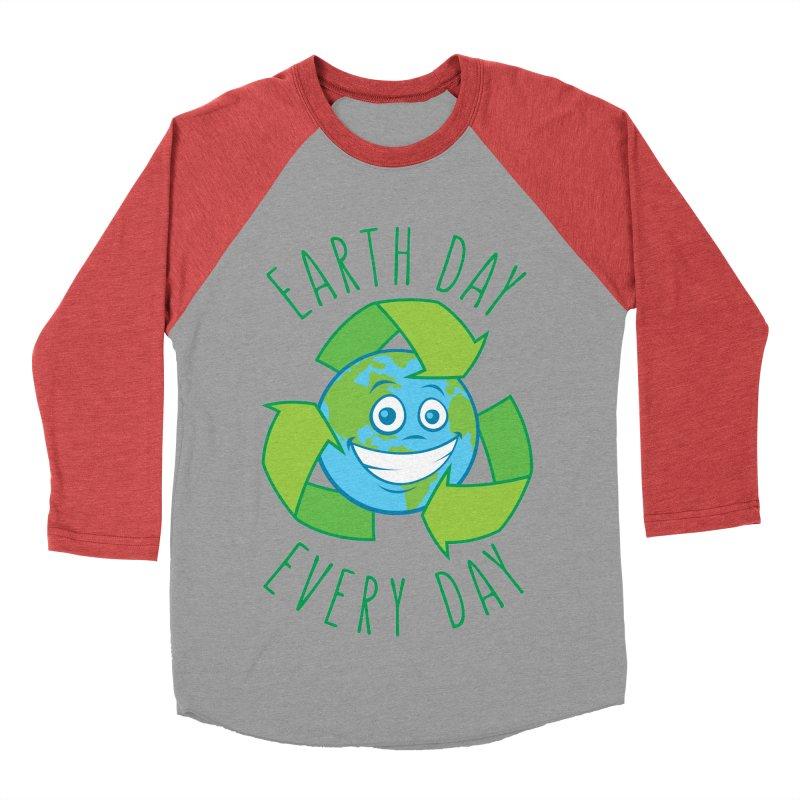 Earth Day Every Day Recycle Cartoon Women's Baseball Triblend Longsleeve T-Shirt by Fizzgig's Artist Shop