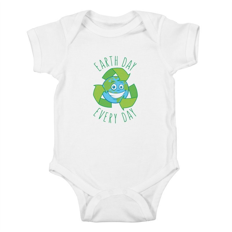 Earth Day Every Day Recycle Cartoon Kids Baby Bodysuit by Fizzgig's Artist Shop