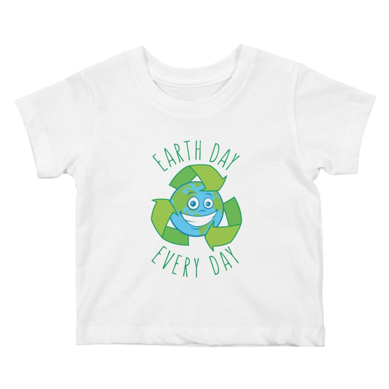 Earth Day Every Day Recycle Cartoon Kids Baby T-Shirt by Fizzgig's Artist Shop