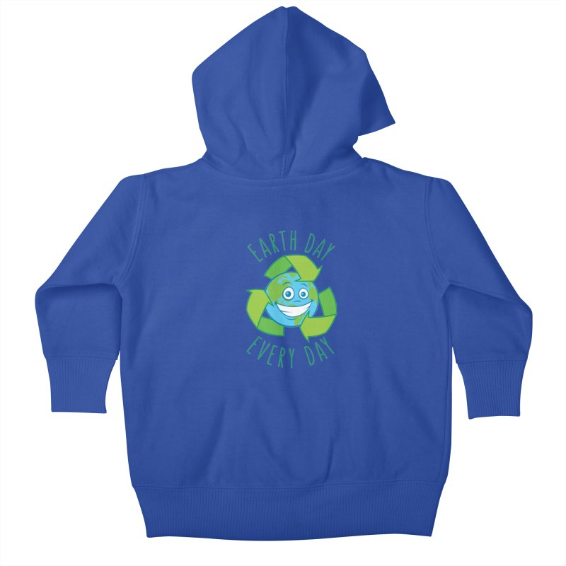 Earth Day Every Day Recycle Cartoon Kids Baby Zip-Up Hoody by Fizzgig's Artist Shop