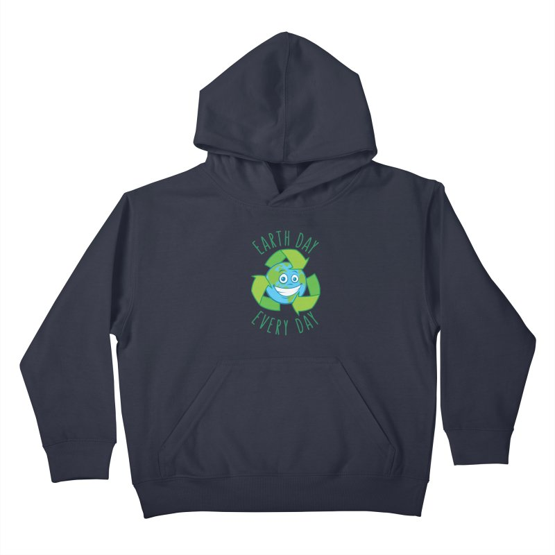Earth Day Every Day Recycle Cartoon Kids Pullover Hoody by Fizzgig's Artist Shop