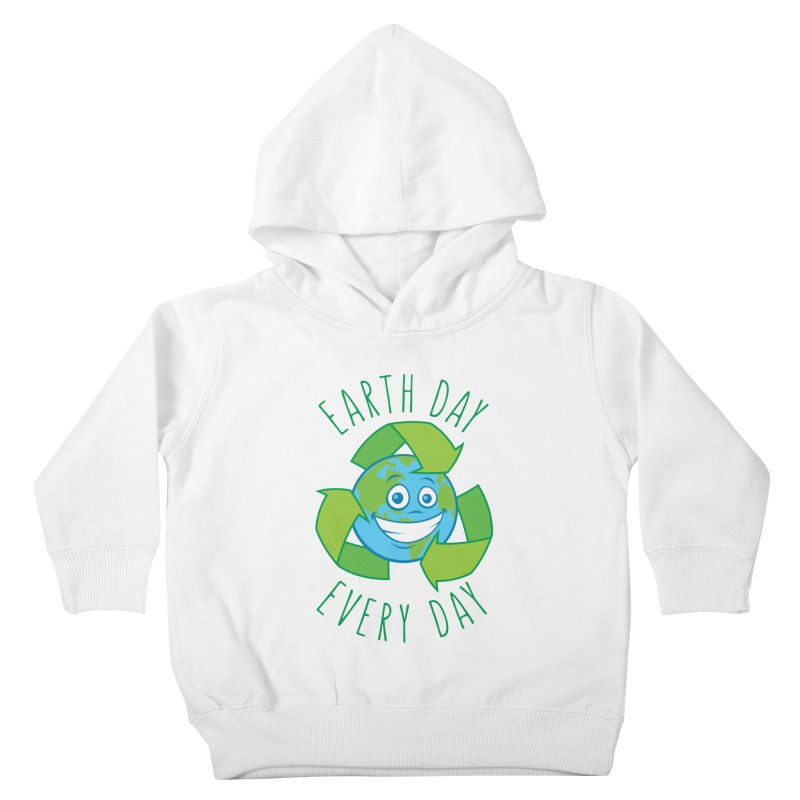 Earth Day Every Day Recycle Cartoon Kids Toddler Pullover Hoody by Fizzgig's Artist Shop