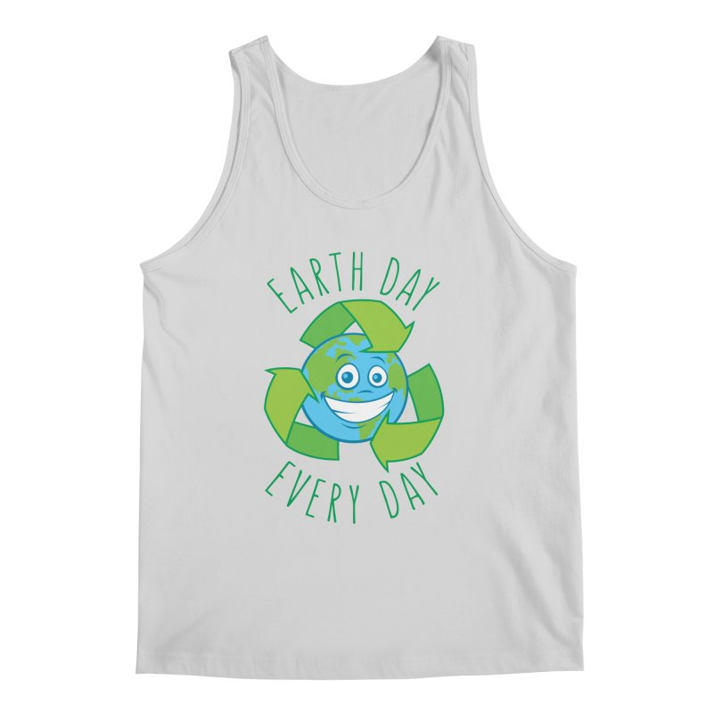 Earth Day Every Day Recycle Cartoon Men's Regular Tank by Fizzgig's Artist Shop