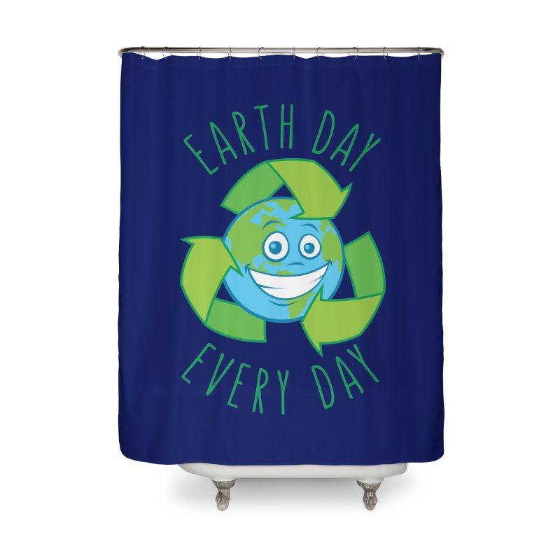 Earth Day Every Day Recycle Cartoon Home Shower Curtain by Fizzgig's Artist Shop