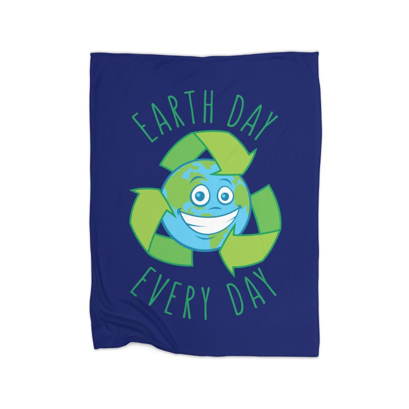 Earth Day Every Day Recycle Cartoon Home Blanket by Fizzgig's Artist Shop
