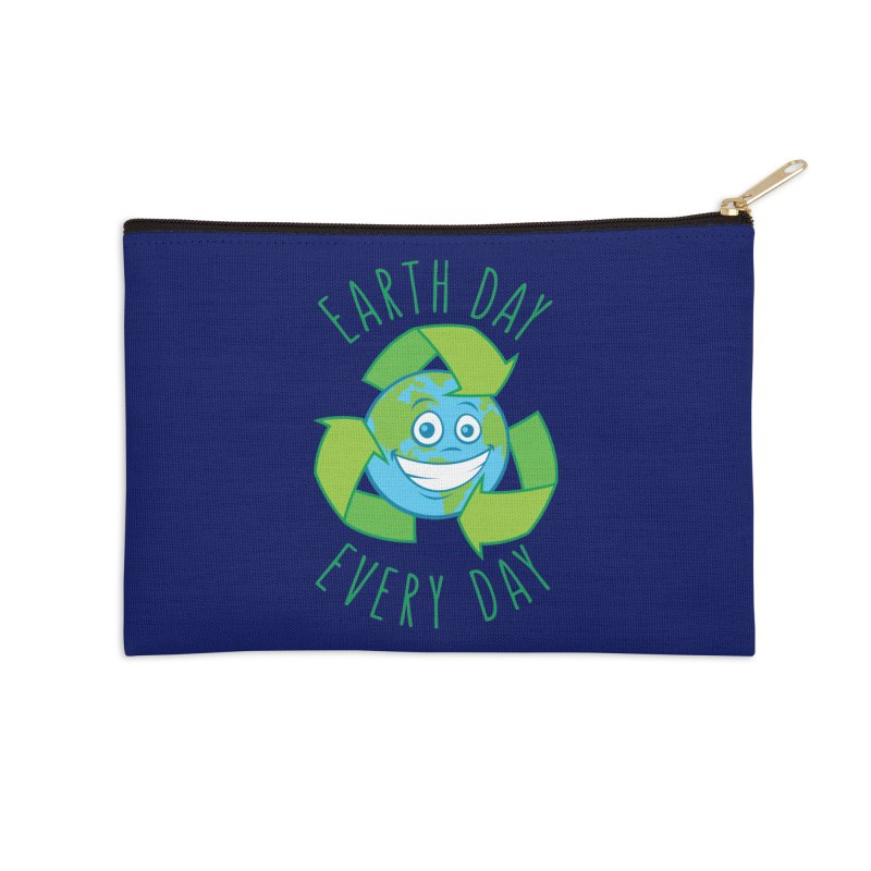 Earth Day Every Day Recycle Cartoon Accessories Zip Pouch by Fizzgig's Artist Shop