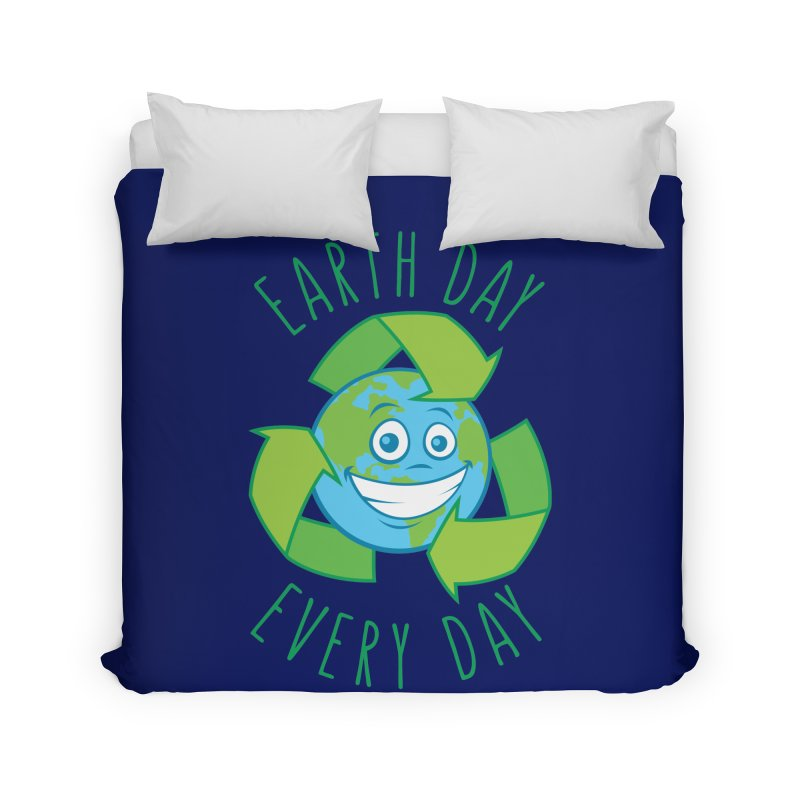 Earth Day Every Day Recycle Cartoon Home Duvet by Fizzgig's Artist Shop