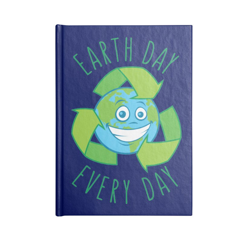 Earth Day Every Day Recycle Cartoon Accessories Notebook by Fizzgig's Artist Shop