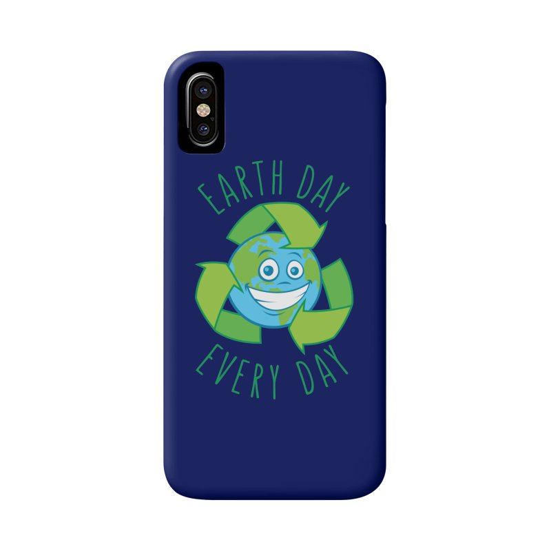 Earth Day Every Day Recycle Cartoon Accessories Phone Case by Fizzgig's Artist Shop