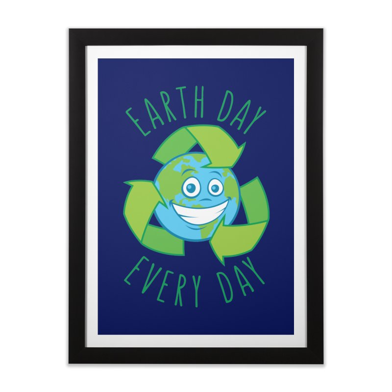 Earth Day Every Day Recycle Cartoon Home Framed Fine Art Print by Fizzgig's Artist Shop