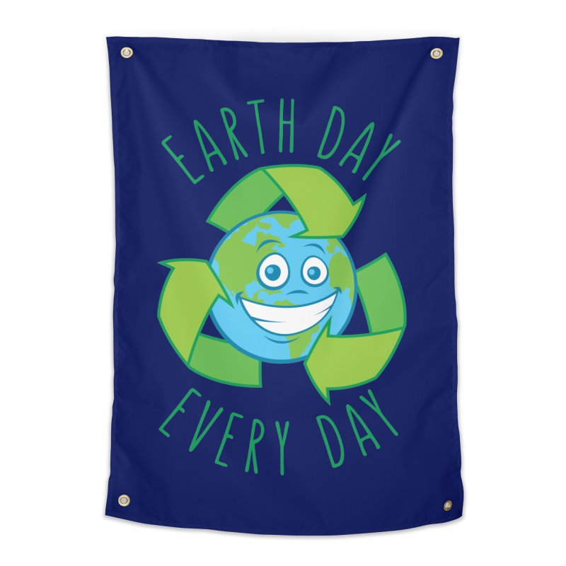 Earth Day Every Day Recycle Cartoon Home Tapestry by Fizzgig's Artist Shop