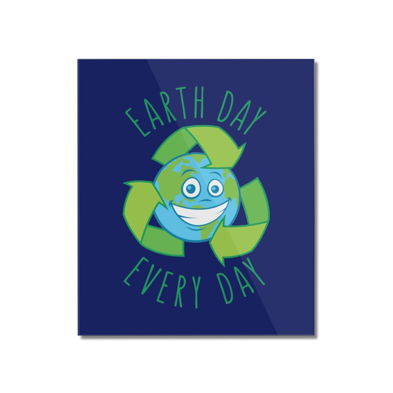 Earth Day Every Day Recycle Cartoon Home Mounted Acrylic Print by Fizzgig's Artist Shop