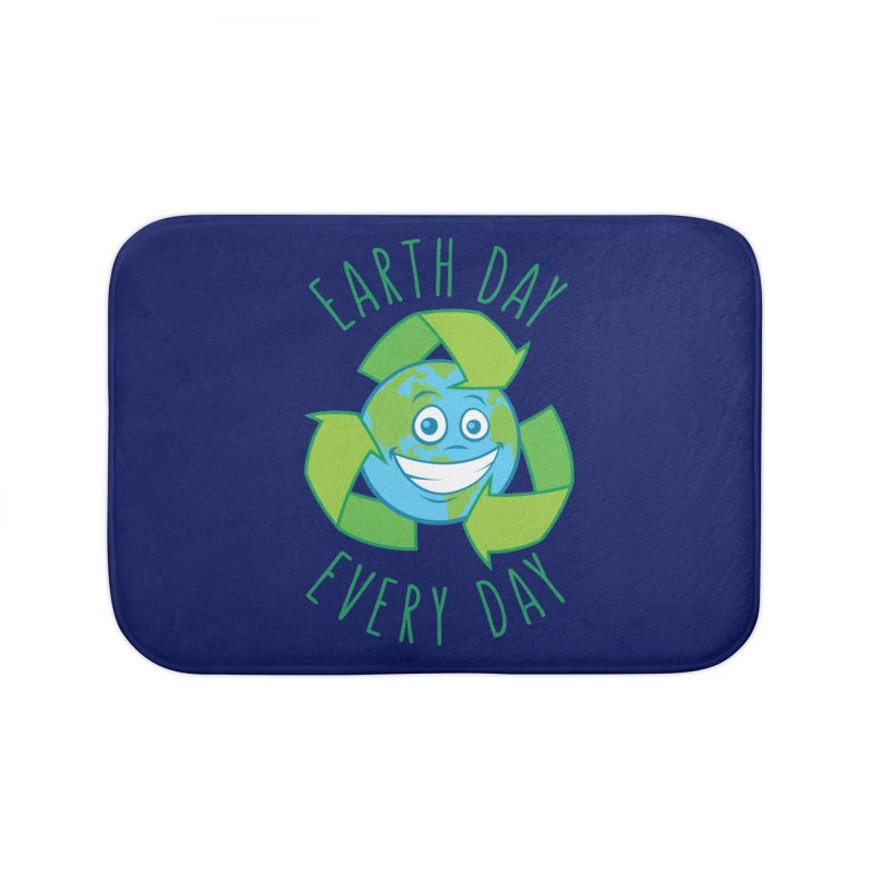 Earth Day Every Day Recycle Cartoon Home Bath Mat by Fizzgig's Artist Shop