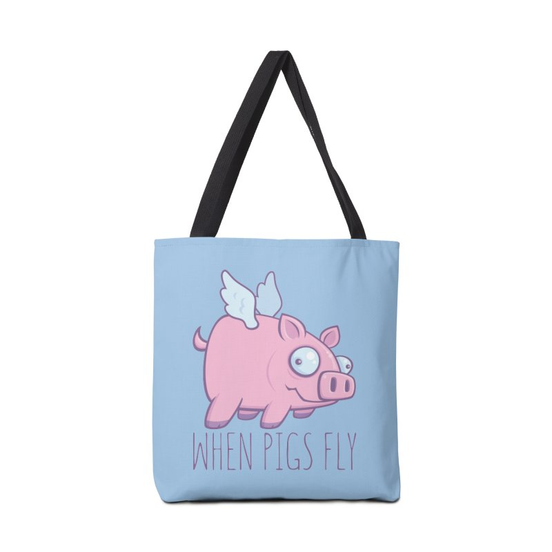 When Pigs Fly with Text Accessories Bag by Fizzgig's Artist Shop