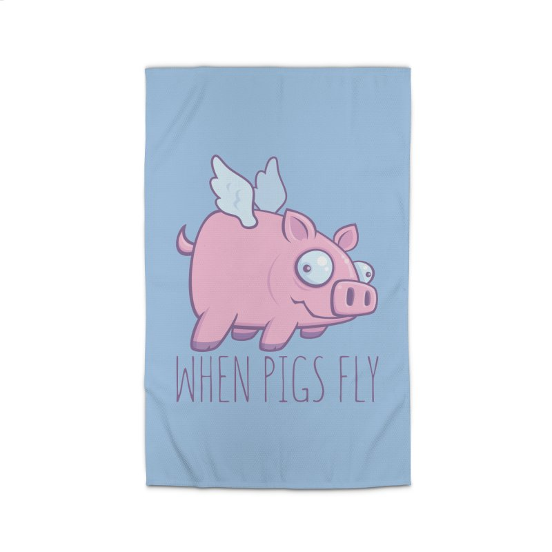 When Pigs Fly with Text Home Rug by Fizzgig's Artist Shop