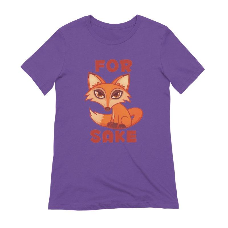 For Fox Sake Women's Extra Soft T-Shirt by Fizzgig's Artist Shop