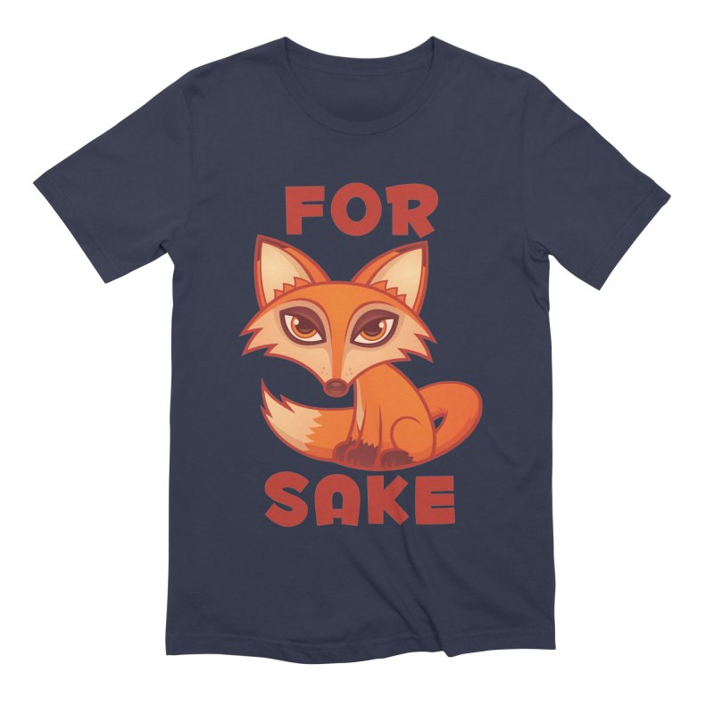 For Fox Sake Men's Extra Soft T-Shirt by Fizzgig's Artist Shop