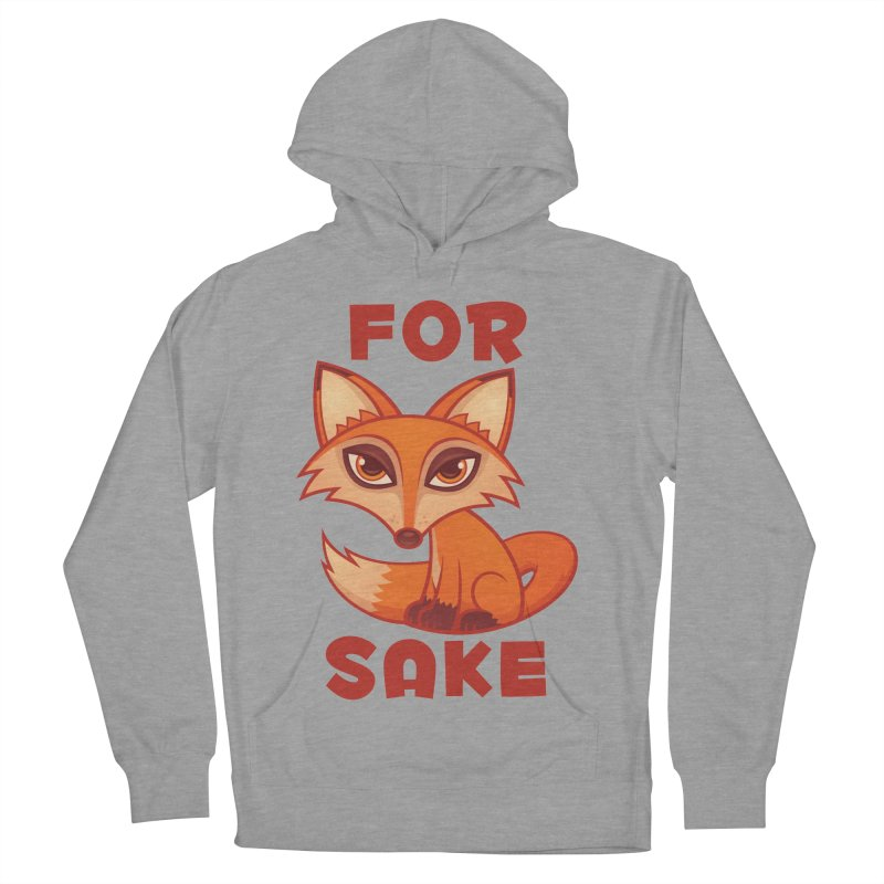 For Fox Sake Men's French Terry Pullover Hoody by Fizzgig's Artist Shop