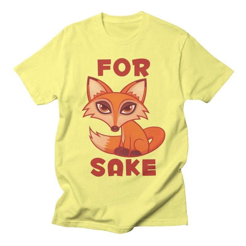 For Fox Sake Men's Regular T-Shirt by Fizzgig's Artist Shop