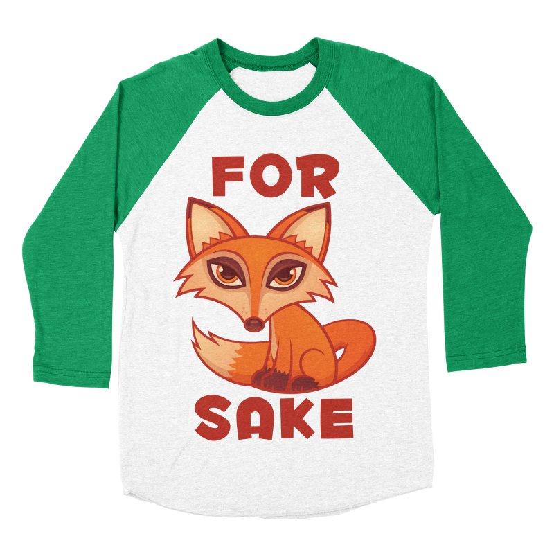 For Fox Sake Men's Baseball Triblend Longsleeve T-Shirt by Fizzgig's Artist Shop