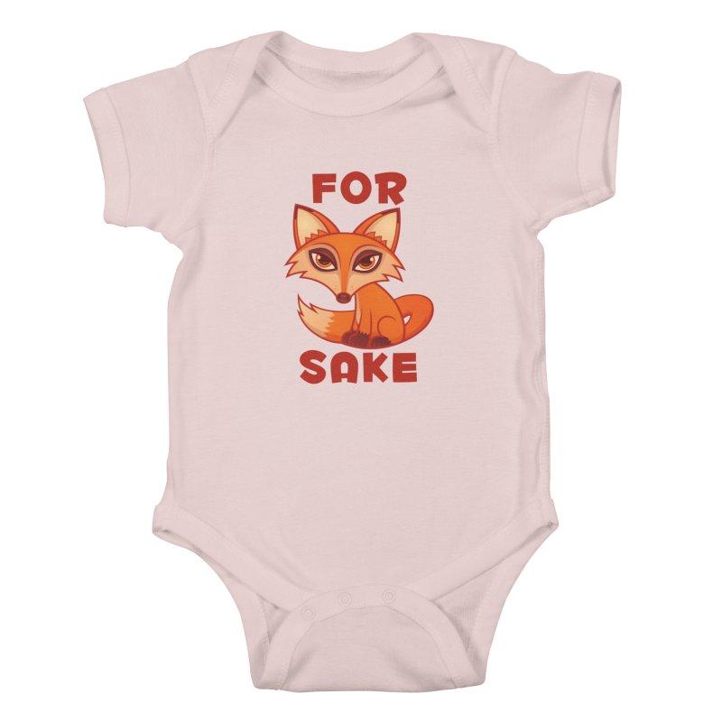 For Fox Sake Kids Baby Bodysuit by Fizzgig's Artist Shop
