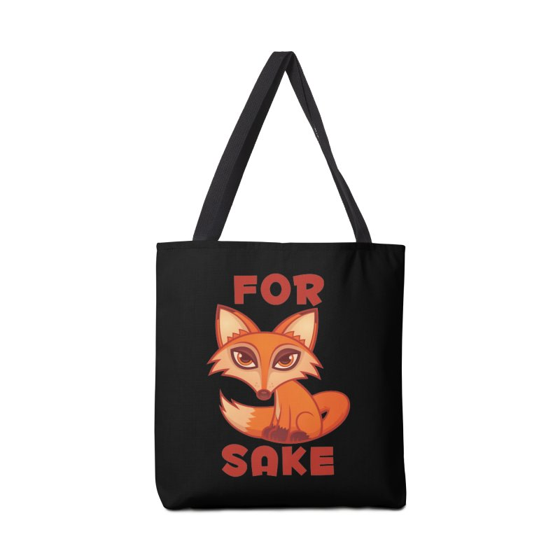 For Fox Sake Accessories Bag by Fizzgig's Artist Shop