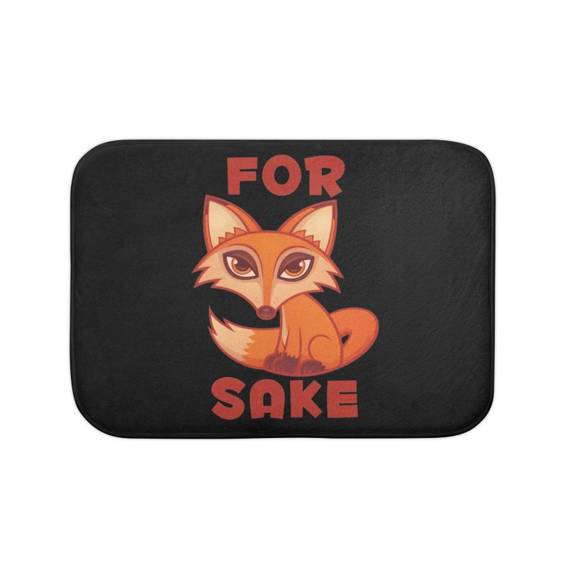 For Fox Sake Home Bath Mat by Fizzgig's Artist Shop