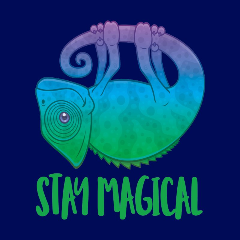 Stay Magical Levitating Chameleon by Fizzgig's Artist Shop