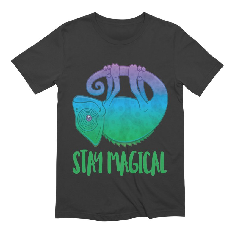 Stay Magical Levitating Chameleon Men's Extra Soft T-Shirt by Fizzgig's Artist Shop