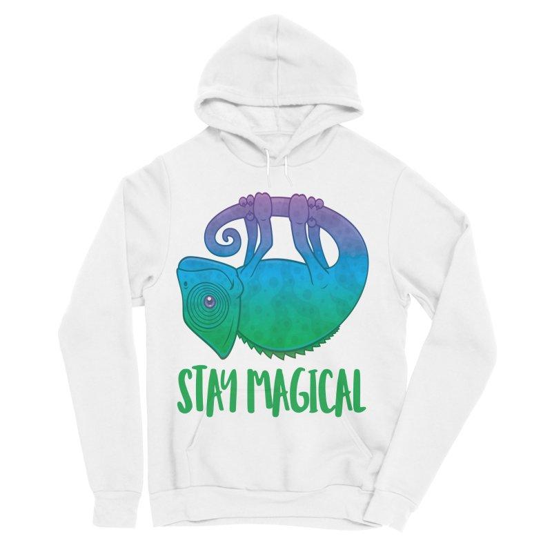 Stay Magical Levitating Chameleon Men's Sponge Fleece Pullover Hoody by Fizzgig's Artist Shop