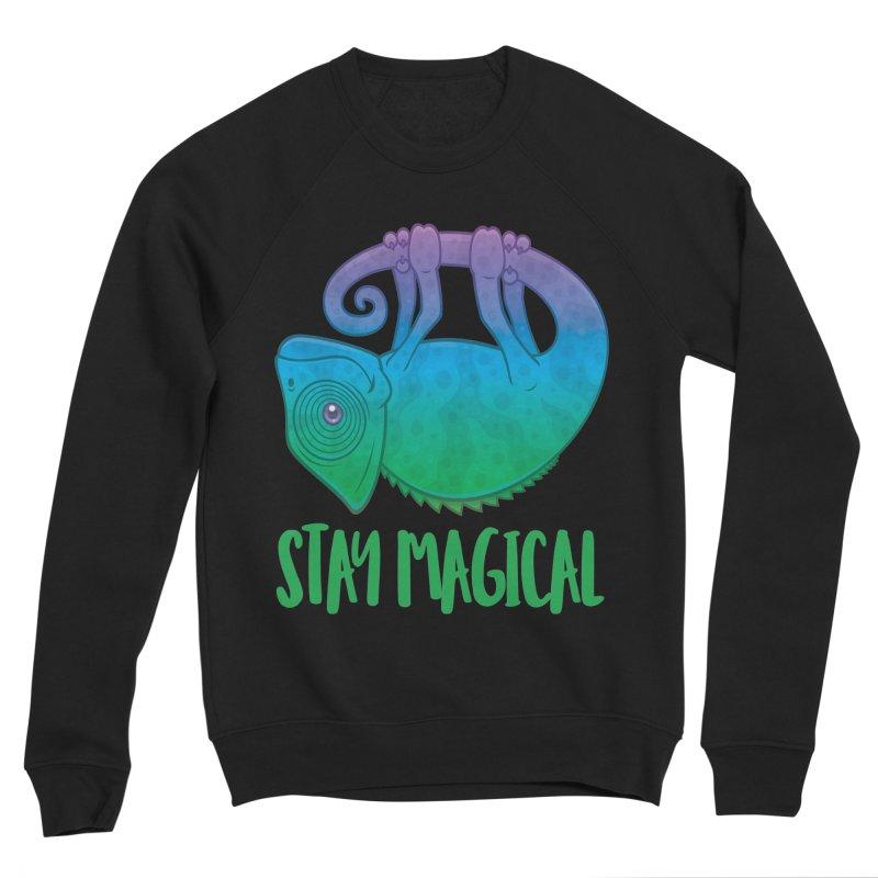 Stay Magical Levitating Chameleon Men's Sponge Fleece Sweatshirt by Fizzgig's Artist Shop