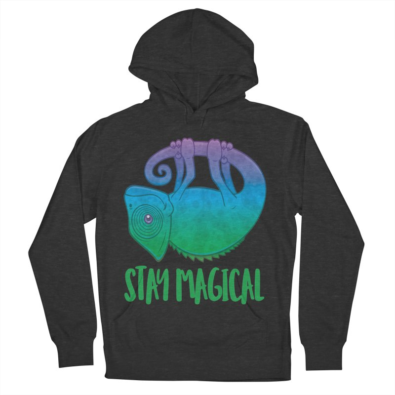 Stay Magical Levitating Chameleon Men's French Terry Pullover Hoody by Fizzgig's Artist Shop