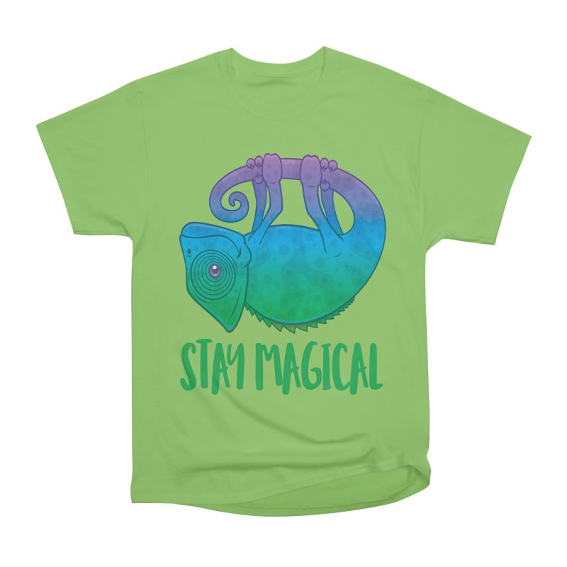Stay Magical Levitating Chameleon Men's Heavyweight T-Shirt by Fizzgig's Artist Shop