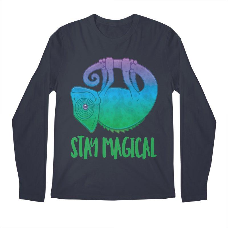 Stay Magical Levitating Chameleon Men's Regular Longsleeve T-Shirt by Fizzgig's Artist Shop