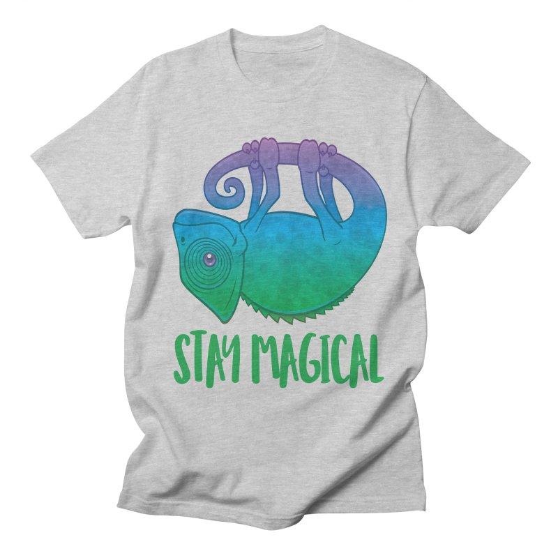 Stay Magical Levitating Chameleon Men's Regular T-Shirt by Fizzgig's Artist Shop